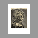 Original signed etching de Cuevas Jose Luis : Self-portrait I