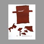 Signed poster de Beuys Joseph : Middelburg, für: Braunräume, 1964