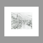 Original signed engraving de Hecht Joseph : Banks of the Seine
