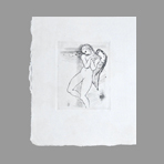 Original etching de Hasegawa Kiyoshi : Poésies complètes de Konosuke Hinatsu, Plate IV