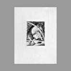 Original etching de Hasegawa Kiyoshi : Poésies complètes de Konosuke Hinatsu, Plate V
