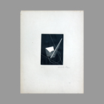 Original signed linocut de Moholy-Nagy Laszlo : Without title