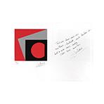 Signierte Originalserigraphie de  : Neujahrskarte