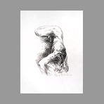 Original signed lithograph de Caballero Luis : Nude