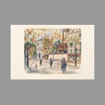 Lithograph de Utrillo Maurice : La rue Sarrelle � Montrouge