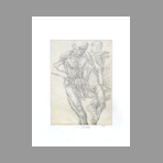 Original signed monotype de Vilage Michel : Study of body II
