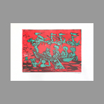 Original signed linocut de Maccari Mino : Without title II