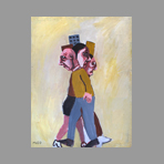 Original signed acrylic de Muzo Jean-Philippe : In the street II