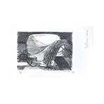 Litografía original firmada de  : Nature morte aux oursins