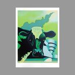 Original signed lithograph de Uriburu Nicolas : Cow