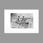 Original signed etching de Signac Paul : Le pont des Arts, Paris