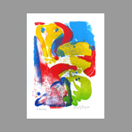 Original signed lithograph de Nyborg Peter : Composition III
