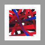 Estampe originale signée de Argatti Philippe : Graff rouge bleu