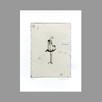 Original signed etching de Favier Philippe : La langue du chat