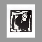 Signed woodcut de Bilan Richard : Figure
