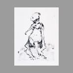 Original signed lithograph de Gillet Roger-Edgar : Character