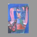 Original signed gouache de Cogorno Santiago : Woman's profile