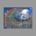 Original signed gouache de Cogorno Santiago : Submarine vision