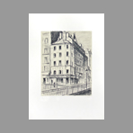 Original signed lithograph de Oguiss Takanori : Rue de la Grange aux Belles