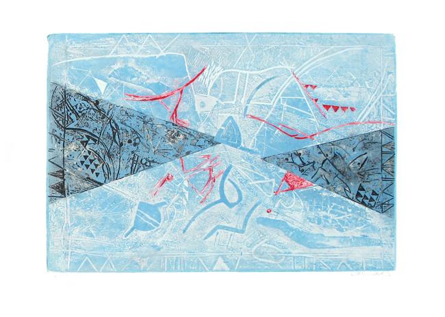 Chahab Tayefeh - Paysage en triangle