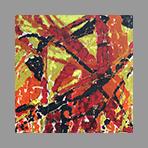 Original signed oil de Appleby Theodore : Composition XVI