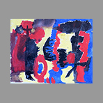 Acrylique originale de Appleby Theodore : Composition VIII