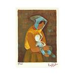 Lithographie originale signée de  : Maternité