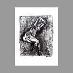Original signed monotype de Milani Umberto : Seated nude