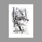 Original signed monotype de Milani Umberto : Abstract composition III