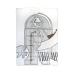 Gravure originale signée de Valentini Walter : Sans titre II