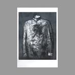 Lithographie originale signée de Pei-Ming Yan : Le costume de Mao