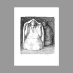 Original lithograph de Zuniga Francisco : Ritual