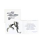 Exhibition invitation card de  : Invitation card Galerie Louise Leiris