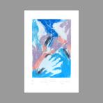 Signed etching carborundum de Arlandis Antoine : R.M. Rilke Intimate portrait 32