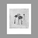 Original signed etching de Coudrain Brigitte : Artichauts IV