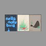 Illustrated book de Munari Bruno : Nella notte buia