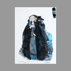 Original signed gouache de Catulle Claude : Un ballo in maschera - Amalia