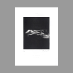 Original signed drypoint de Dado : Kafka, le terrier plate IX