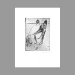 Original signed drypoint de Dado : Kafka, le terrier plate VIII