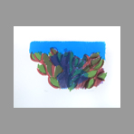 Original signed lithograph de Morlotti Ennio : Cactus