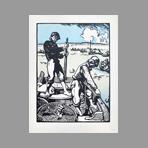 Print de Estampe Moderne : Loups de mer