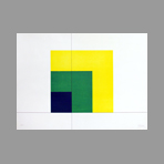 Original signed screenprint de Camesi Gianfredo : Geometric Composition II