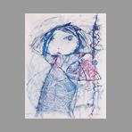 Original signed lithograph de Pell�n Gina : Girl