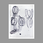 Original signed drawing de Phillips Helen : Study of forms II