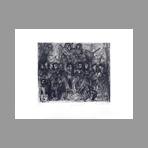 Signed etching de Celnikier Isaac : Nuit de d�part