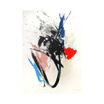 Lithographie originale signée de Miotte Jean : Composition abstraite VI