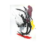 Lithographie originale signée de Miotte Jean : Composition abstraite VII
