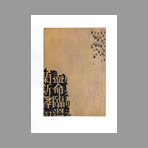 Original signed aquatint de Kim Tschang Yeul  : Drops and calligraphy III