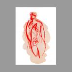 Original signed lithograph de Wesel Leo : Nude I