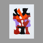Original signed screenprint de Gischia L�on : Composition I
